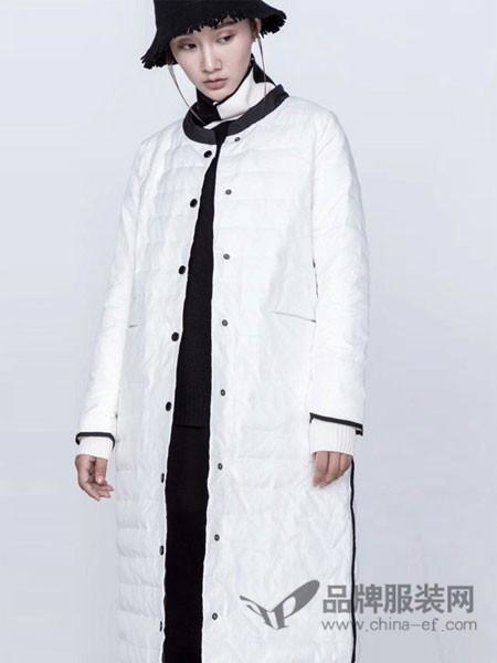 庄玛女装2017秋冬时尚衬衫领棉服
