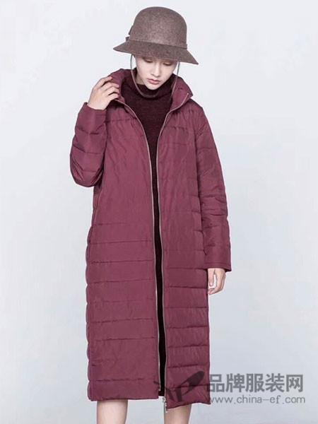 庄玛女装2017秋冬修身轻薄羽绒服