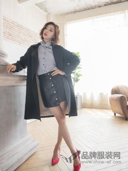 伽戈女装2018春夏休闲风衣外套