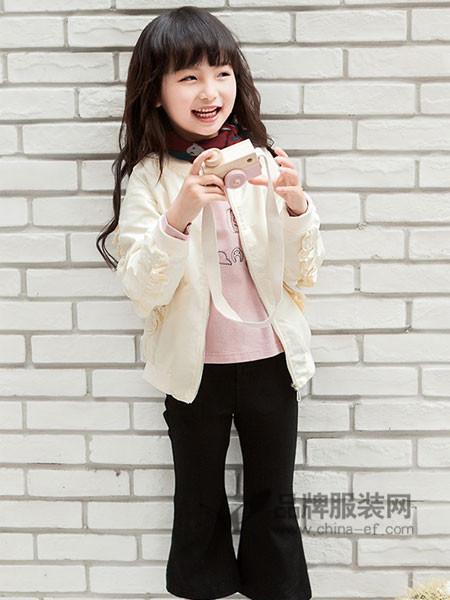 海贝童装2018春女童韩版公主外套夹克上衣