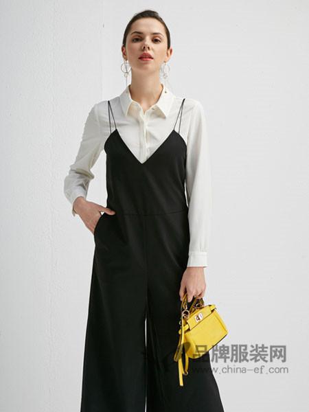 朗香女装2018春时尚个性优雅吊带长裙