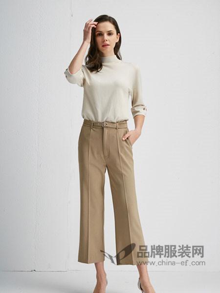 朗香女装2018春时尚百搭半高领长袖毛衣