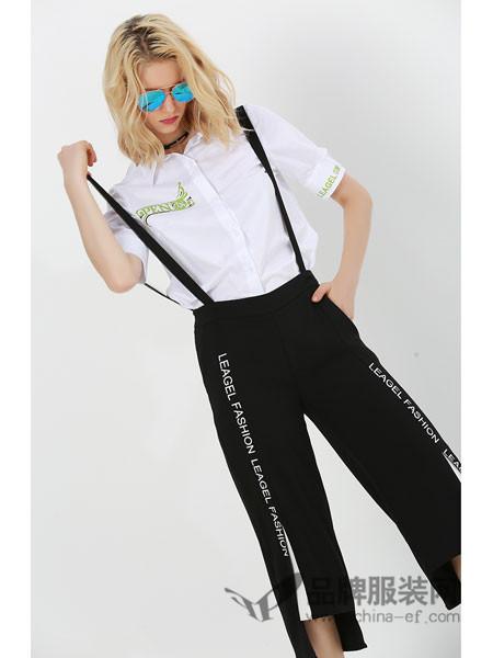 例格女装2018夏季时尚修身背带裤
