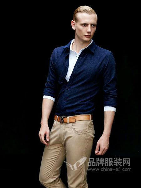 宾宝男装时尚商务简约长袖衬衣