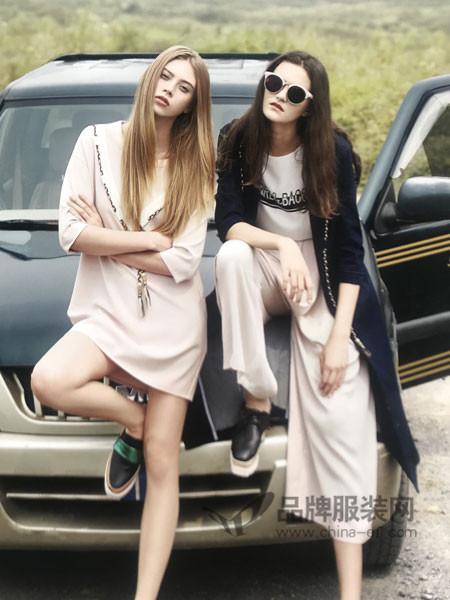 点占女装2018春夏时尚优雅气质中长连衣裙