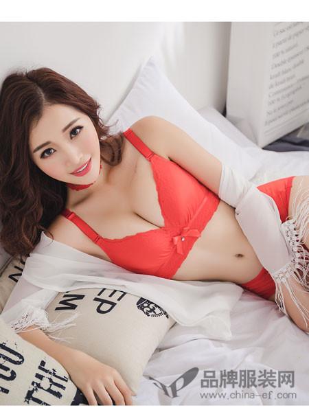 伊美丽人内衣2018春夏红色