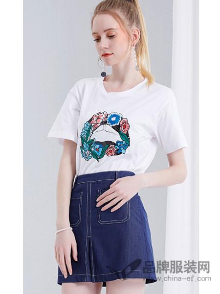 晴碧琳女装2018夏季包臀裙半身裙A字裙伞裙