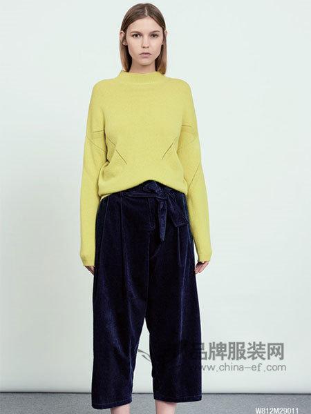 未知未觉女装2018春时尚优雅气质针织毛衣
