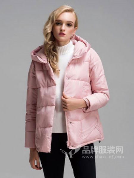 阿伊米女装秋冬休闲时尚连帽棉衣外套