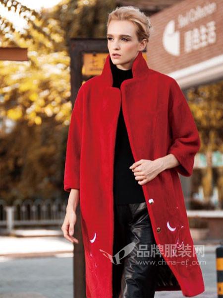 阿伊米女装秋冬时尚优雅气质修身中长保暖毛呢外套