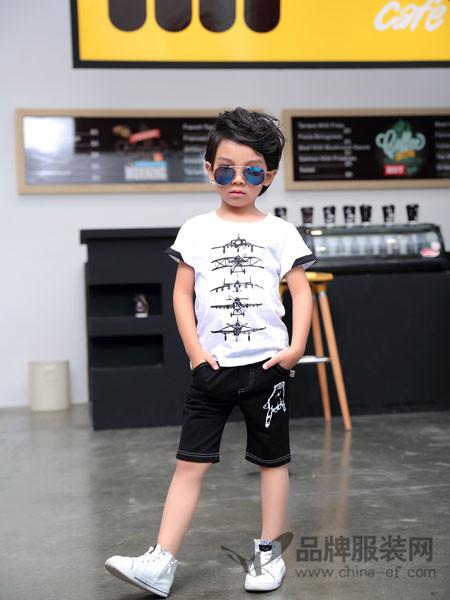 童品壹仓童装2018夏季帅气小男童休闲上衣