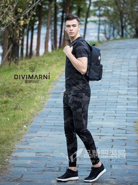 迪威玛尼男装2018春夏时尚休闲运动短袖套装