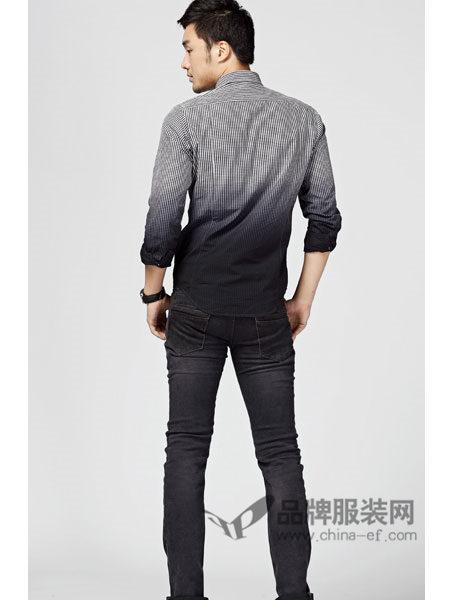 G5G6牛仔时尚休闲修身黑色男长裤
