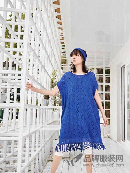 BUKHARA布卡拉女装2018夏季蓝色宽松修身百搭上衣