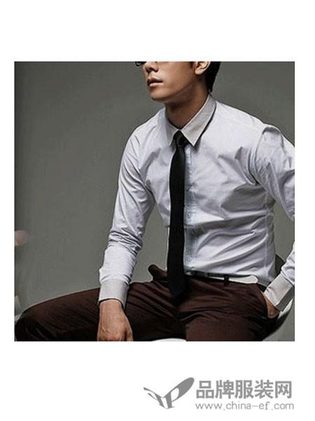 曼时MS男装百搭商务打底衬衫