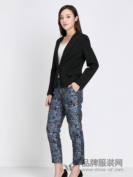 玳莎女装2018春夏修身显瘦V领气质淑女短款长袖西装西服外套