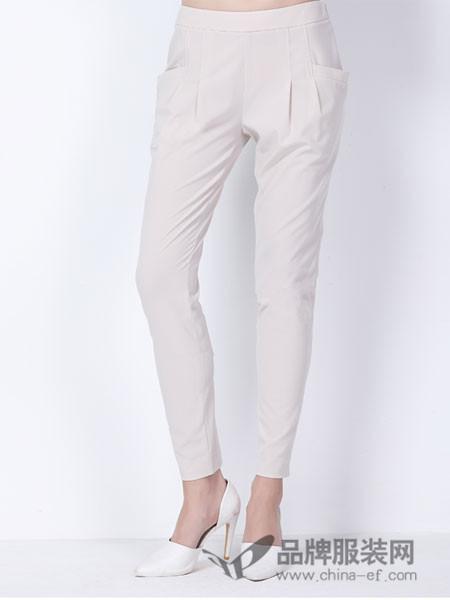 玳莎女装2018春夏百搭韩版修身休闲宽松显瘦通勤白色哈伦裤