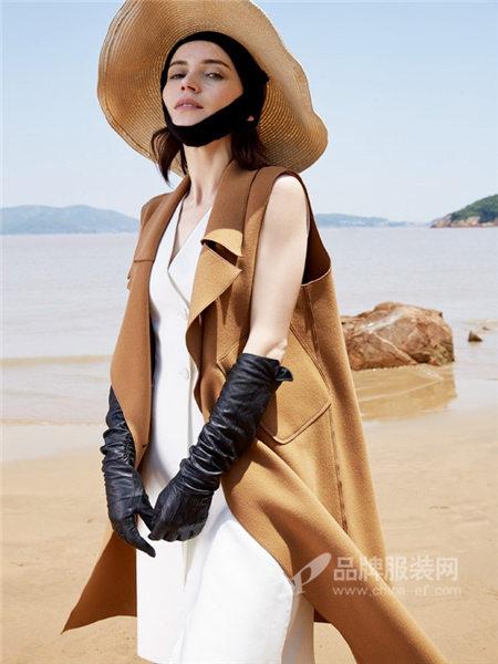 古袖女装2018秋冬时尚优雅欧式西装领中长马夹