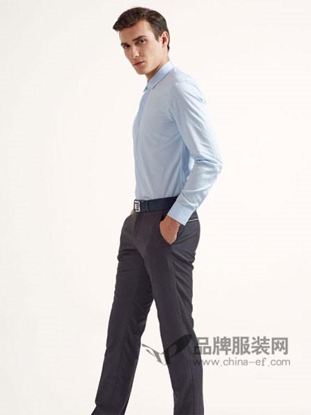乔夫男装时尚商务长袖百搭衬衣