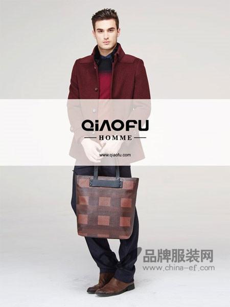 乔夫男装时尚商务立领呢子外套