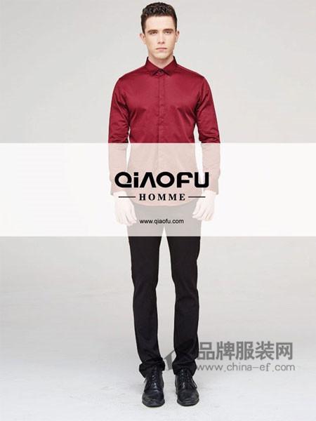 乔夫男装时尚商务正装长袖衬衣