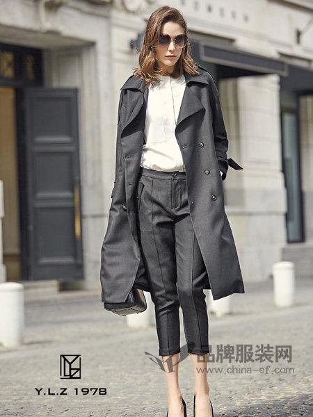 YLZ1978女装2018春欧式时尚优雅中长风衣外套