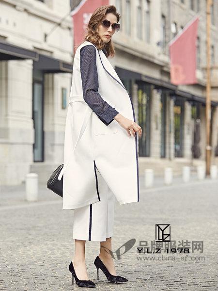 YLZ1978女装2018春时尚优雅气质开叉西装领马夹外套