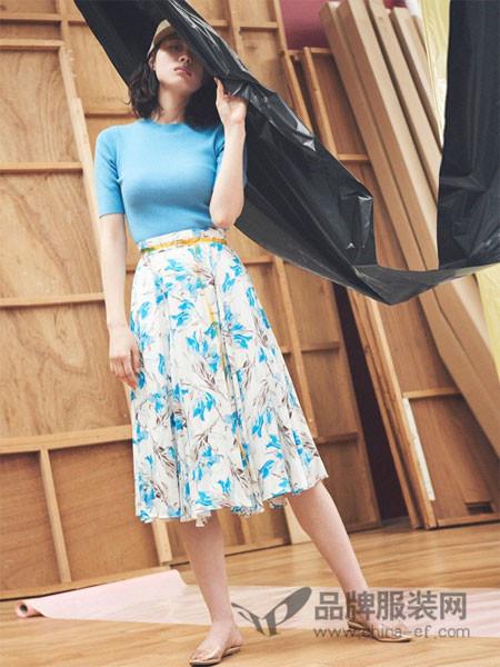 Snidel女装2018春夏中袖时尚修身针织百搭上衣