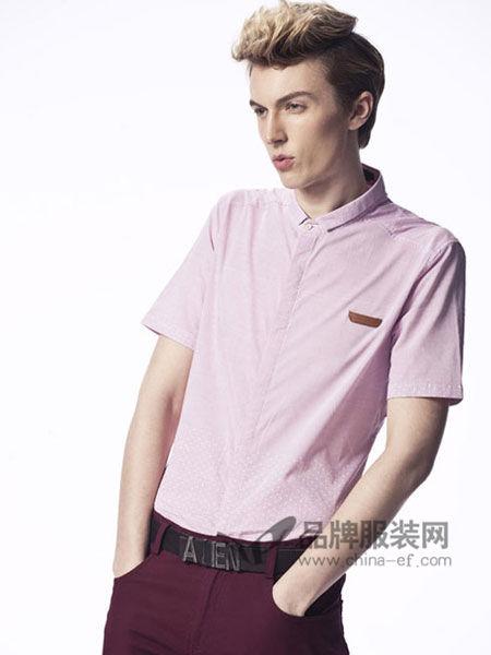 异形男装时尚简约商务短袖衬衣
