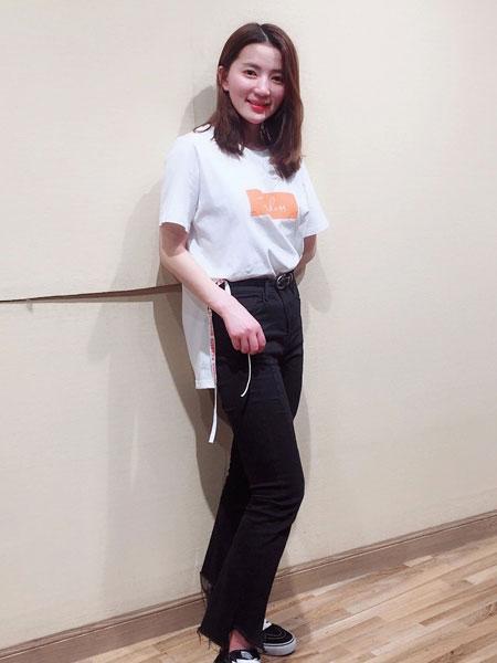 YES、NONO、be.女装2018夏季时尚百搭修身上衣T恤