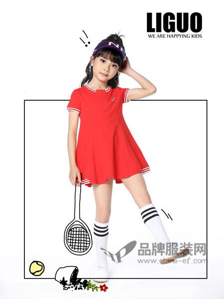 力果 - LIGUO童装2018夏季休闲运动短袖连衣裙