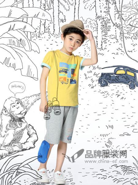 力果 - LIGUO童装2018夏季休闲时尚印花短袖男T恤