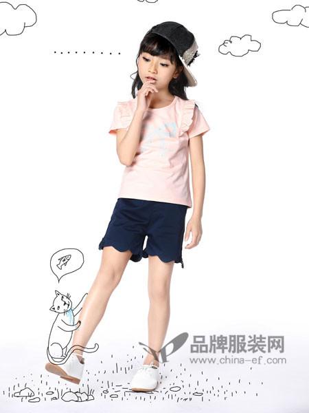 力果 - LIGUO童装2018夏季休闲时尚字母短袖女T恤