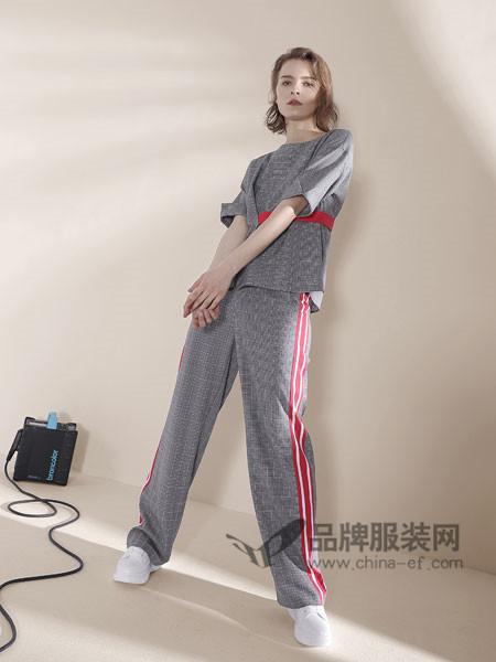 诉求女装2018春夏版百搭时髦显瘦阔腿裤两件套