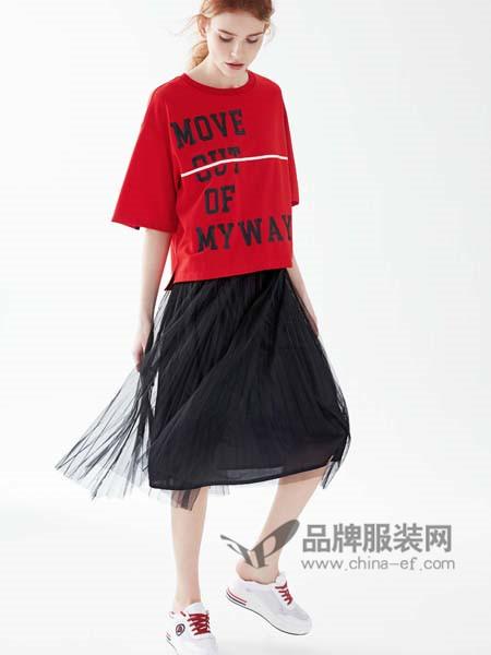 亨奴女装2018春夏时尚休闲字母短袖上衣