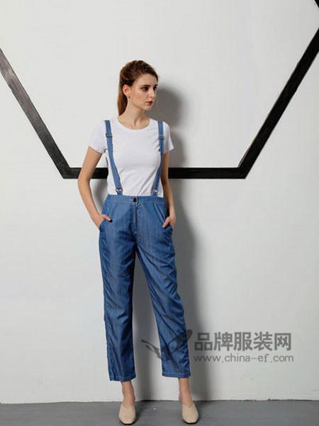 �o索女装2018春夏时尚休闲牛仔背带裤