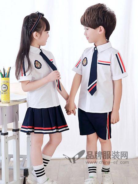 52017亲子情侣2018夏季时尚休闲条杠校服