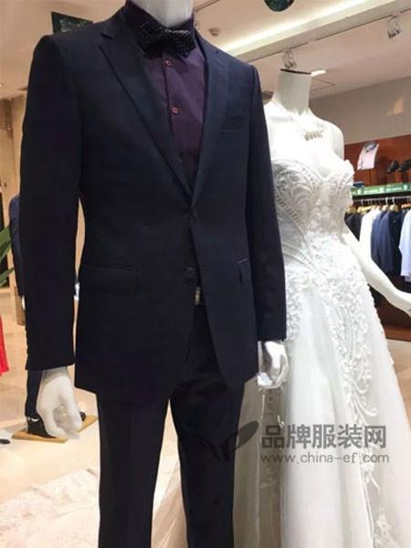 雷诺renoir男装修身休闲韩版西服量身定做西装结婚礼服