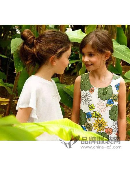 小野豹Yebao童装时尚碎花无袖连衣裙