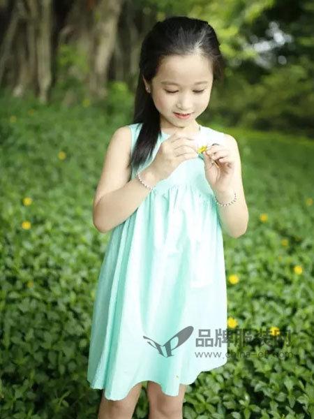 小野豹Yebao童装时尚简约无袖连衣裙