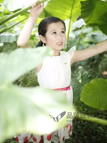 小野豹Yebao童装时尚优雅系带碎花连衣裙