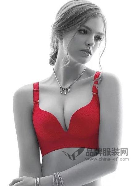 娅筑内衣2018夏季C杯偏薄无钢圈调整型女士文胸