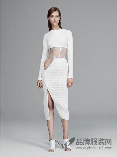 迈克・卡勒女装性感时尚开叉时尚套裙