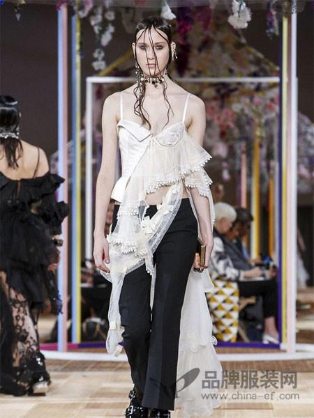 亚历山大・麦昆女装2018春夏吊带时尚性感百搭上衣