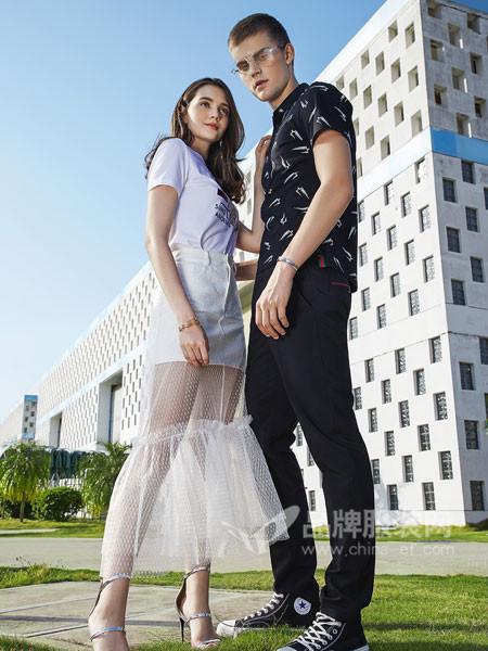 SASLAX莎斯莱思女装2018夏季欧式时尚个性高腰网纱短裤拼接半身裙