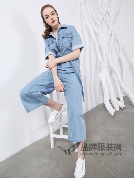欧玥女装2018夏季时尚休闲牛仔连体裤