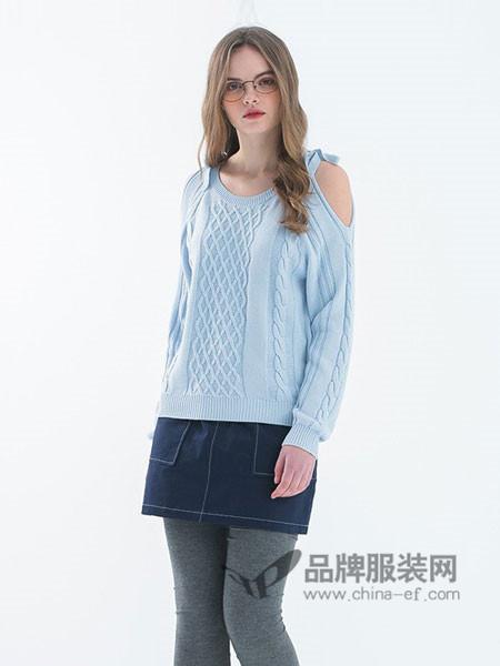 花木马男装2018春夏日系女装针织线衫