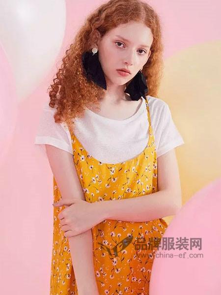唐狮休闲2018春夏时尚优雅两件套碎花连衣裙