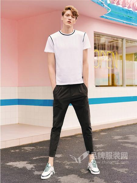 城市佐罗男装2018夏季时尚简约T恤