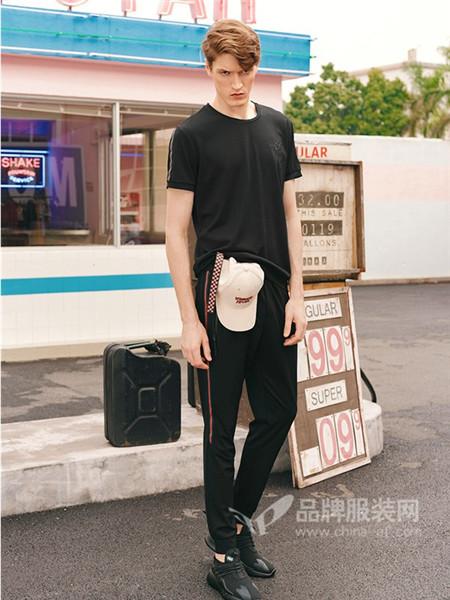 城市佐罗男装2018夏季时尚休闲简约T恤